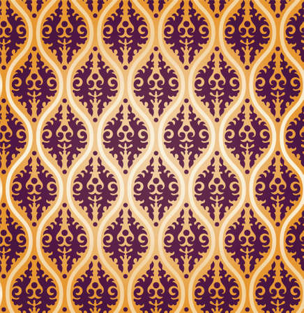 Vintage Abstract Damask Brocade Wallpaper Background Texture Stock Vector - 17033568