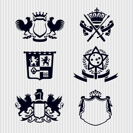 Heraldic Royal Crests Coat of Arms Stock Vector - 17121827
