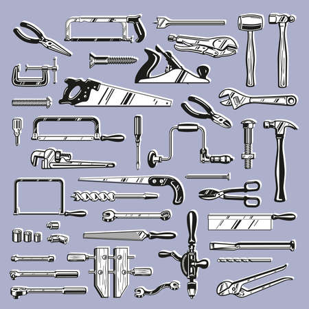 Tools and Hardware Stock Vector - 17121837