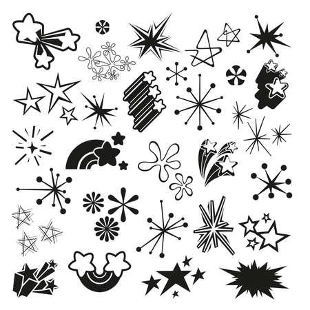 black star: Retro Stars and Starbursts