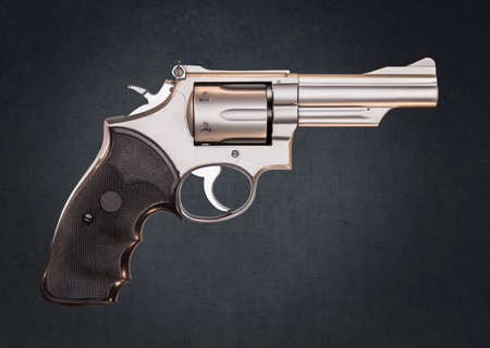 Stainless 357 Magnum Revolver  Stock Photo