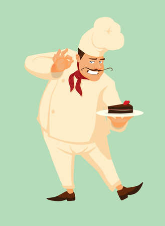master chef: Master chef with delicious cake