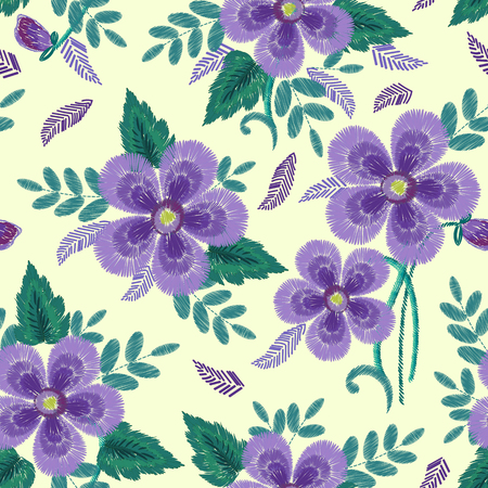 Floral Ornamental Fashion print Ilustracja