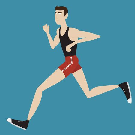runing: isolate illustration of runing sportsman