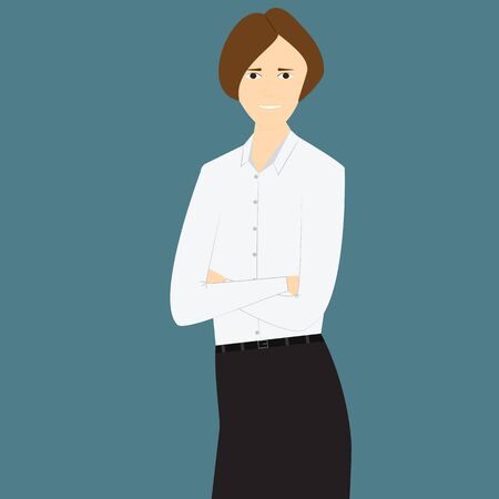 the businesswoman: isolate illustration of look  businesswoman Stock Photo