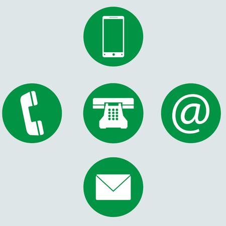 telephone icons: Isolate illustration of telephone icons