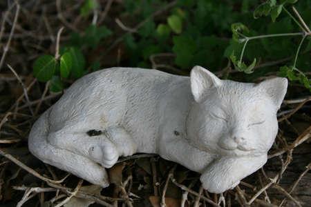 Paper mache cat Stock Photo