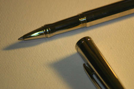 furnishings: Pen cap open Stock Photo