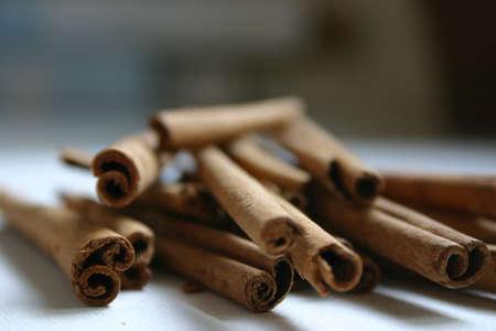 spicey: Cannella Stick spezie  Archivio Fotografico