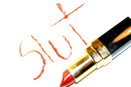 hoer: Rode lippenstift Slut