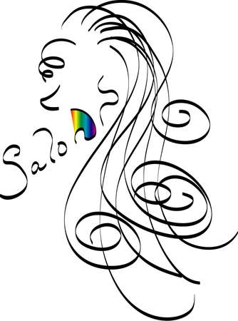Salon logo Фото со стока - 308508