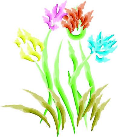 artisan: painted flowers