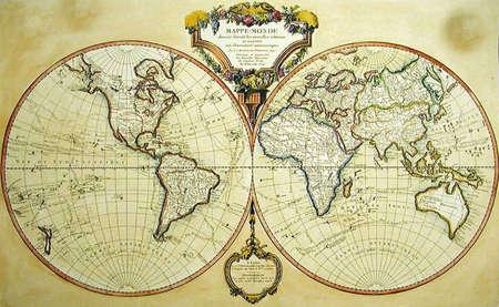 tarnished: Treasure map Stock Photo
