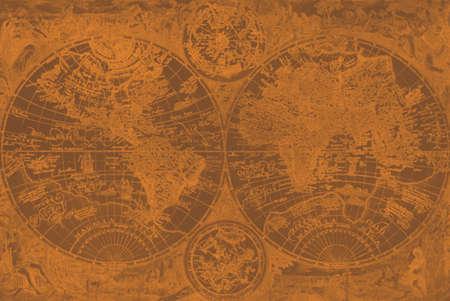 Mapa de piel de los piratas  Foto de archivo - 491666