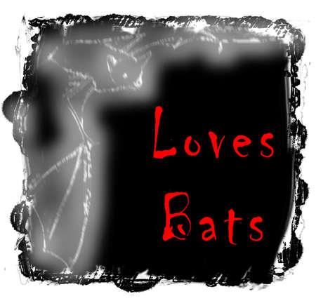 spoof: Loves Bats Stock Photo