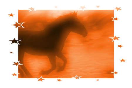 spoof: orange Horse