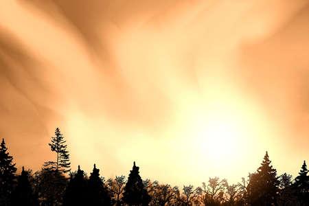 winter sky Reklamní fotografie
