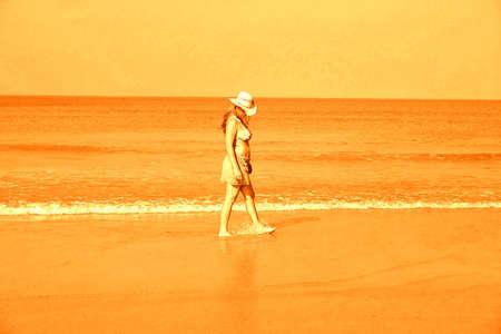Sepia beach Walk