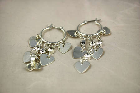 Silber Ohrringe Standard-Bild - 1142305