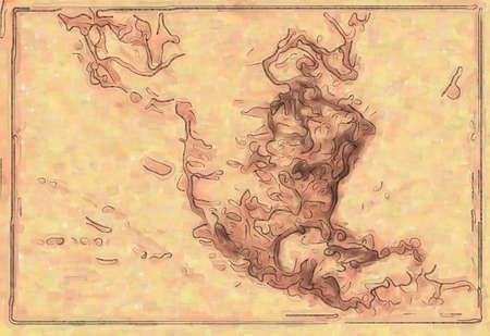 Old World Map Design