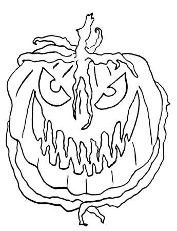 Line Art Pumpkin