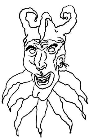 evil joker clown Reklamní fotografie - 1674997