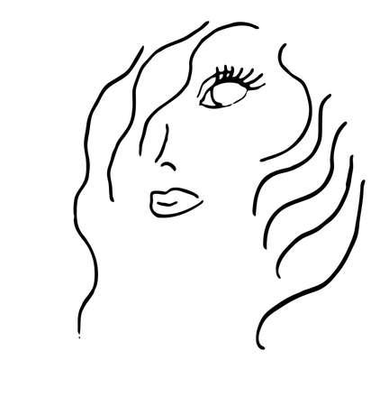 Beauty or Cosmetics Business logo Symbol Hand Drawn