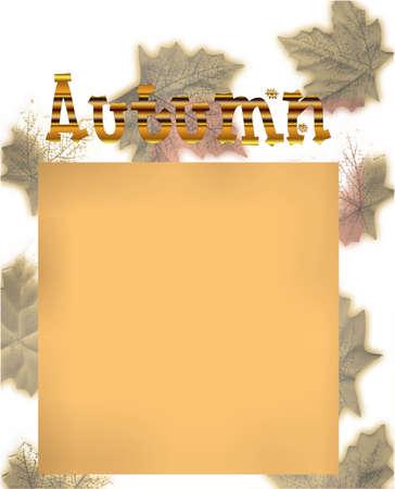 Autumn gradient blog design photo