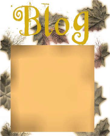 autumn blog design photo