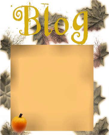 Autumn Blog Design Stock Photo - 1877168
