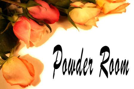 powder room: polvo de habitaci�n fondo de las rosas  Foto de archivo