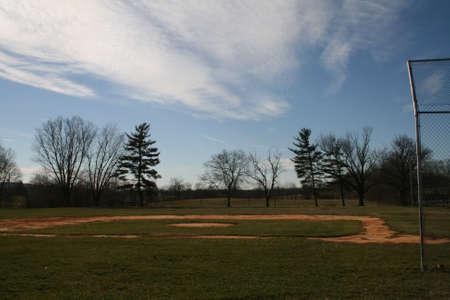 of yesteryear: Empty Baseball Field