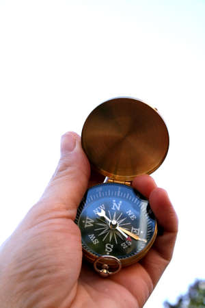 compass in hand 版權商用圖片