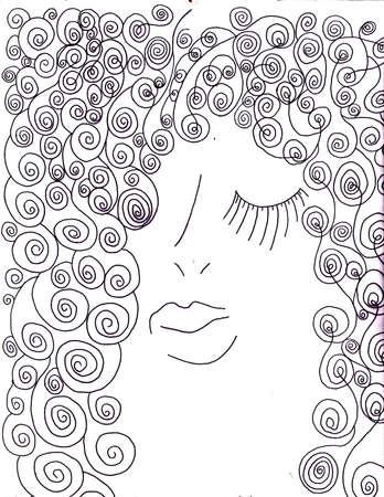 penned: Peacock Beauty Salon Hair Style Face Illustration Artwork