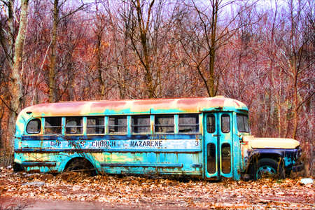 Rusty Old School Bus