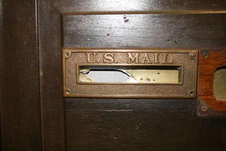 미국 우편 슬롯 골동품 스톡 콘텐츠