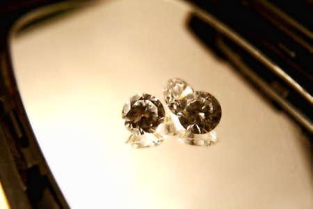 diamonds on  a mirror