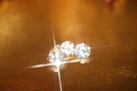 Diamonds and Gold Stock fotó