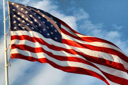 american flag waving: USA
