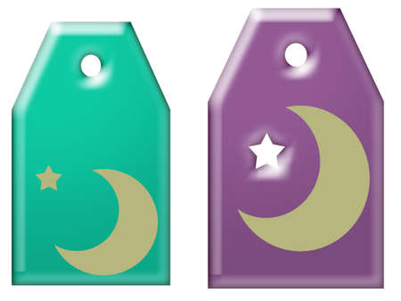 Moon and Stars tags