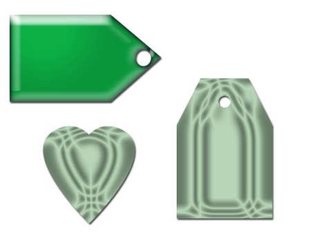 Ocean Green Gift tags Imagens