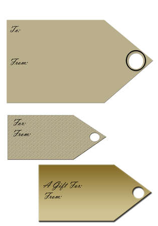 Classic Gift Tags Stok Fotoğraf - 4278011