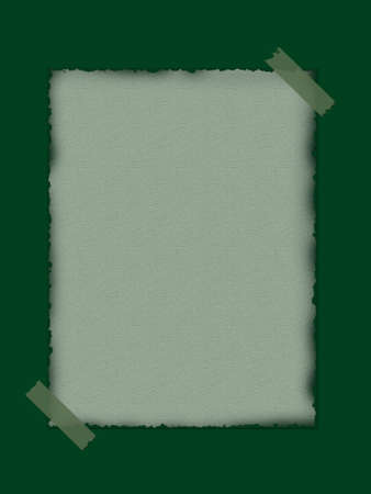 browned: Green paper background
