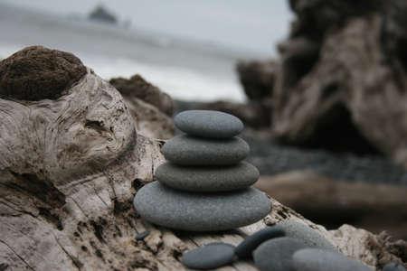 meaningful: Ocean Rocks Stock Photo