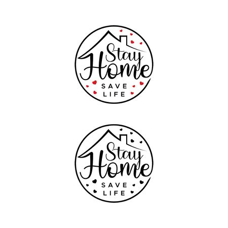 Stay home. Save Live. Flat vector icon for apps and websites.