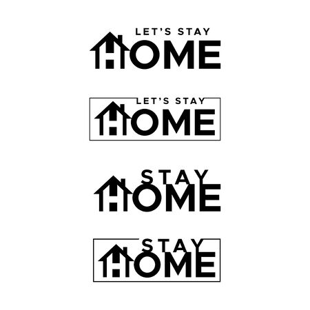 Lets stay home. Stay home. Flat vector icon for apps and websites.  イラスト・ベクター素材