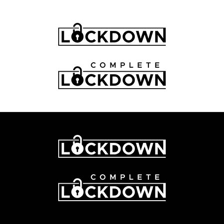 Lockdown. Complete lockdown. Stay home flat vector icon for apps and websites.