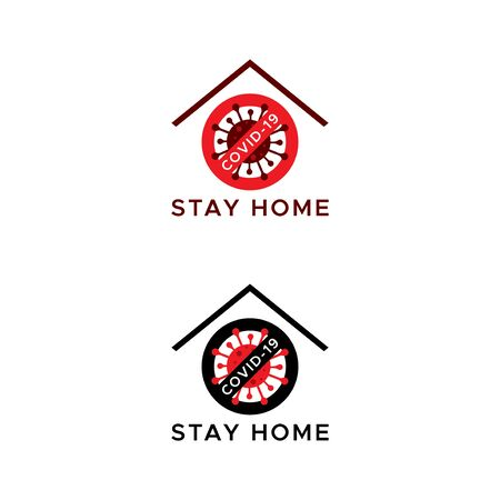 Novel coronavirus outbreak covid-19. Stay home flat vector icon for apps and websites.