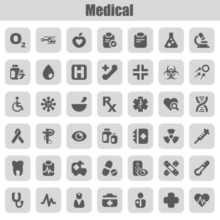 set of icons for medicine