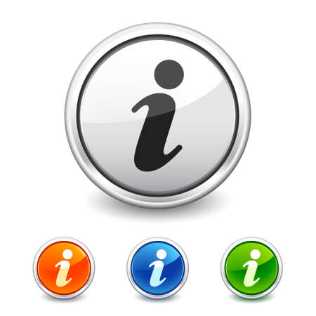 info button in four colors Vectores